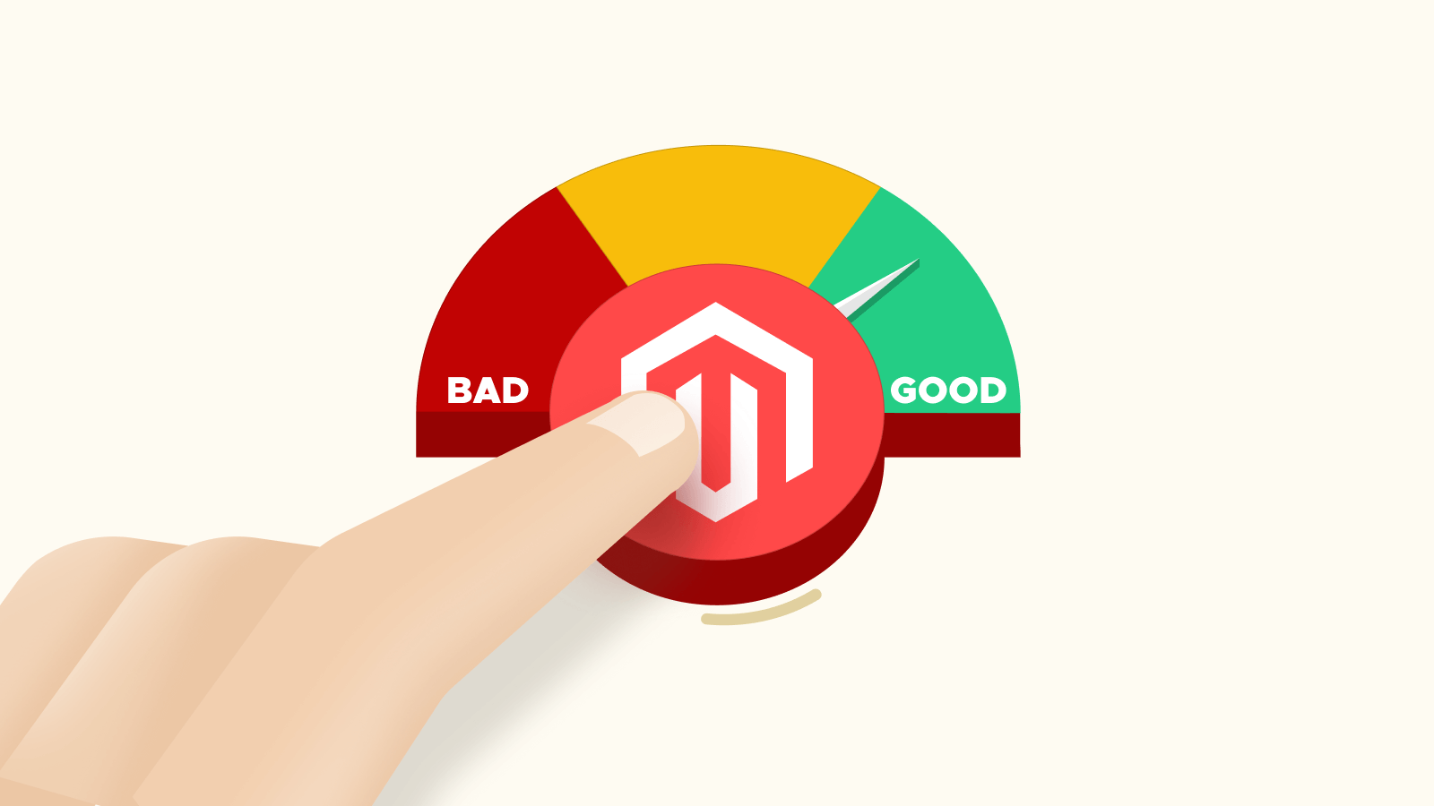 Illustration representing Magento 2 speed improvements