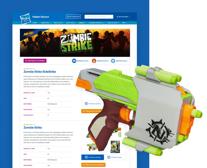Hasbro Source website design