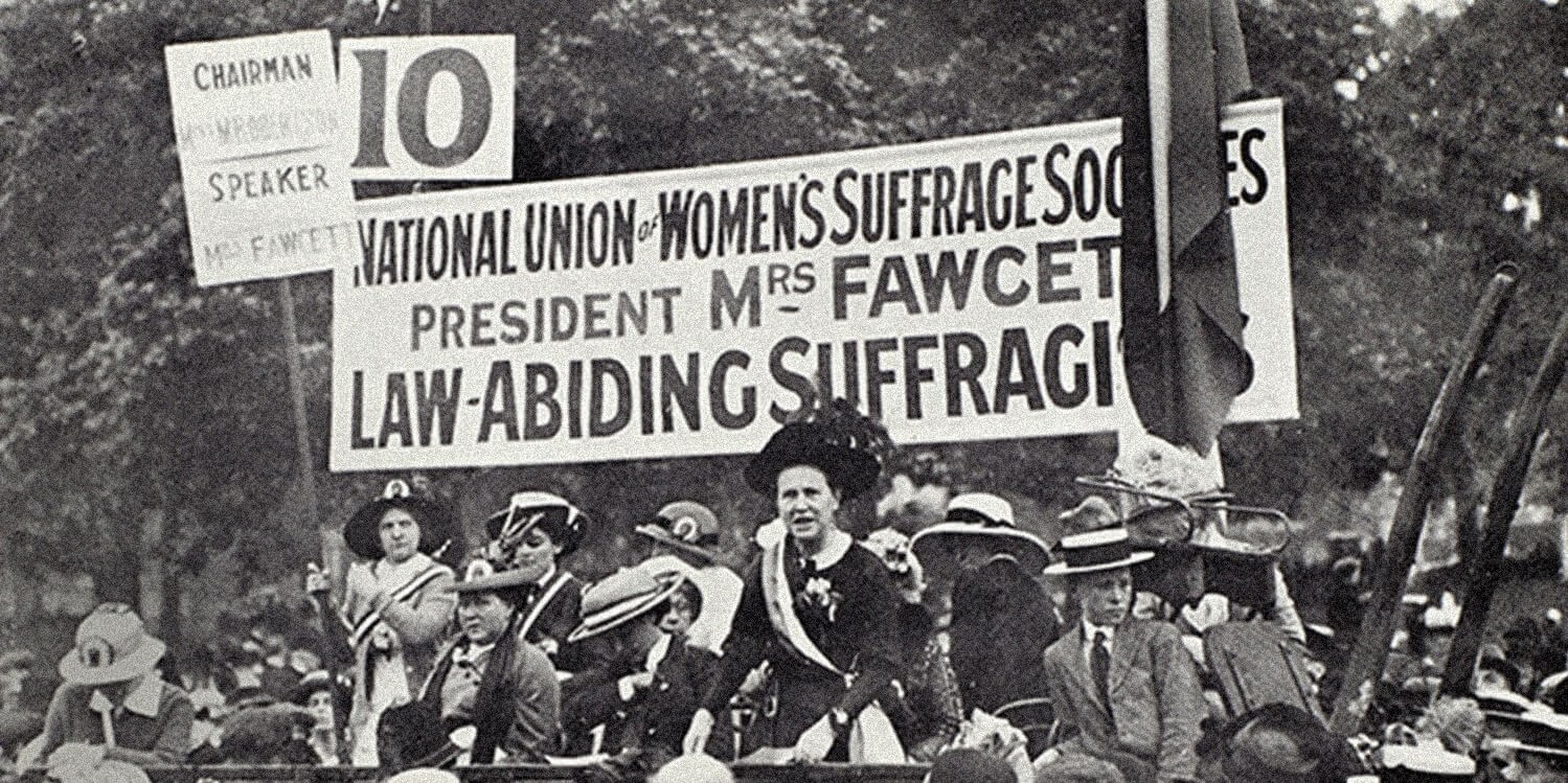 Mrs Fawcett, National Union of Women's Suffrage societies