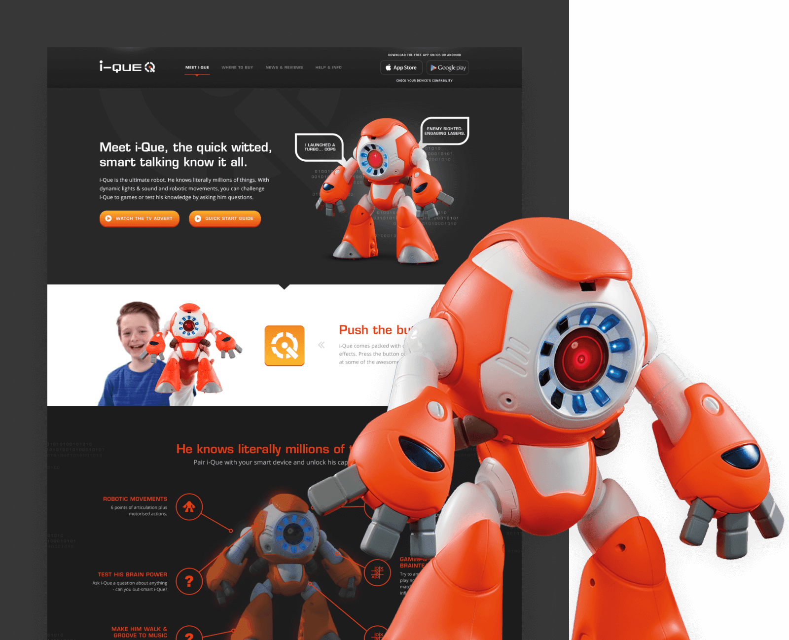 I-Que toy robot website