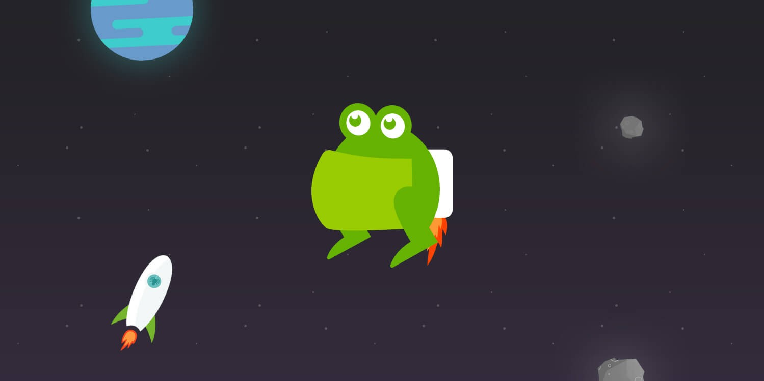 Screaming frog character design
