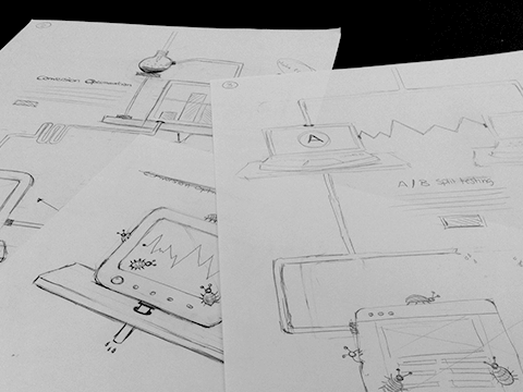 Sketches of the Si digital website