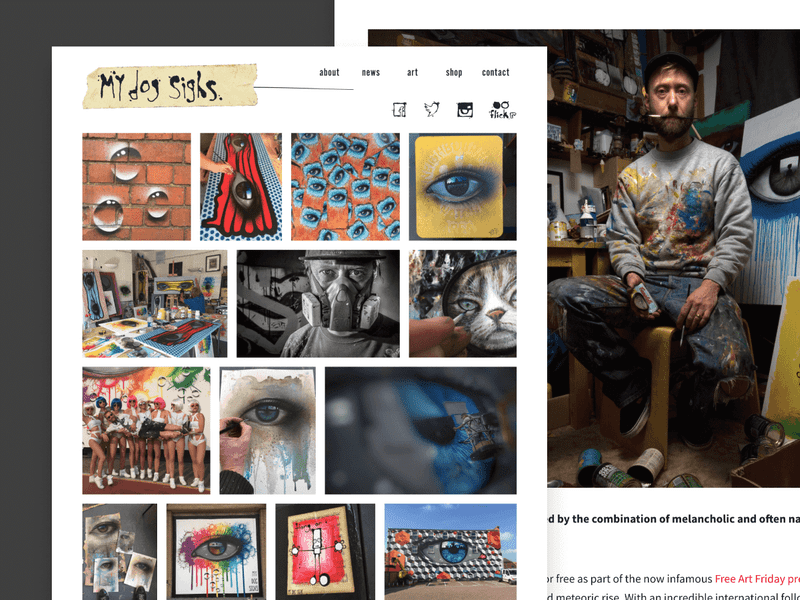 My Dog Sighs website design