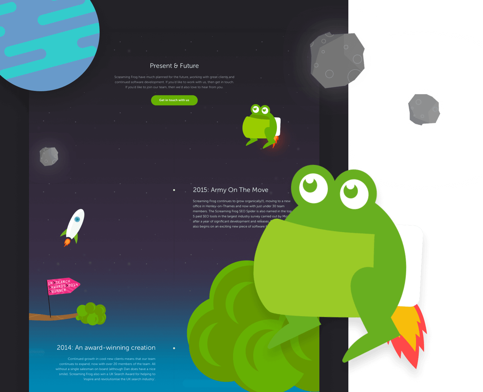 Screaming Frog website design